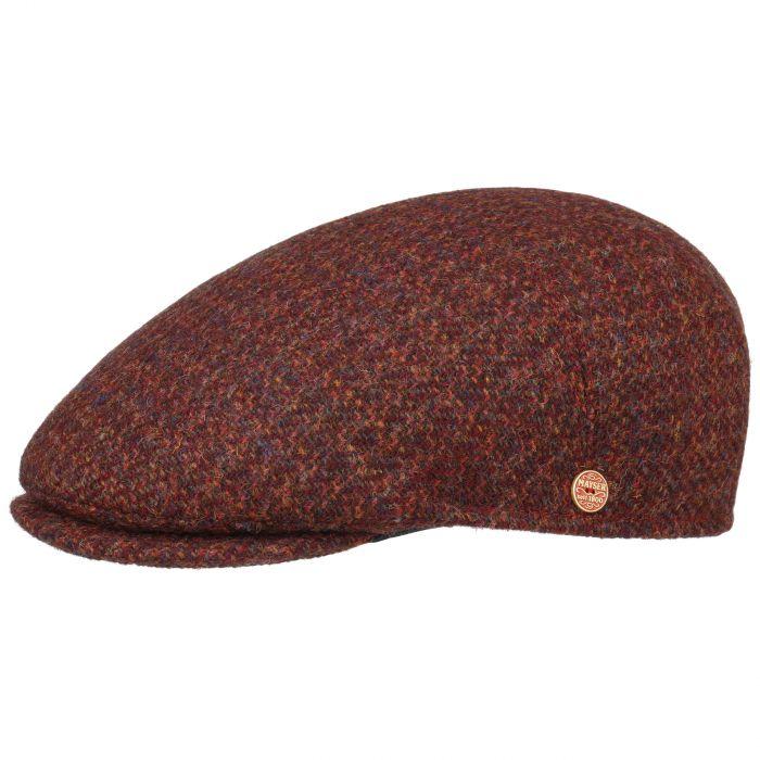 Sidney Harris Tweed Flat Cap red