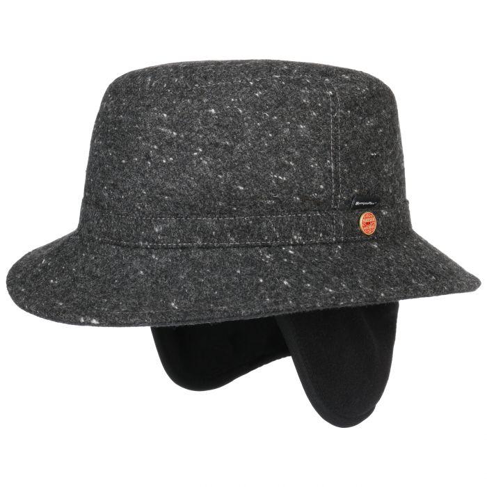 Stuart Sympatex Hat with Ear Flaps anthracite-mottled