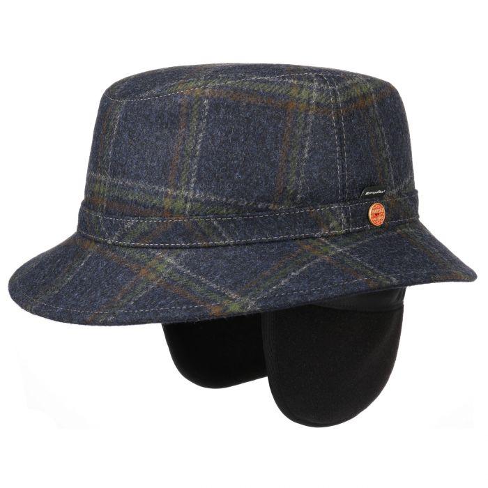 Stuart Blue Sympatex Hat with Ear Flaps navy