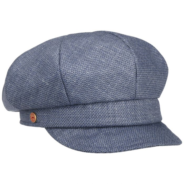 Anja Uni Newsboy Cap blue