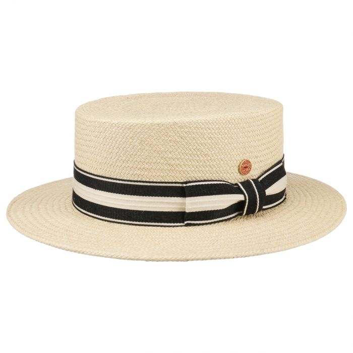 Gondolo Boater Panama Hat nature