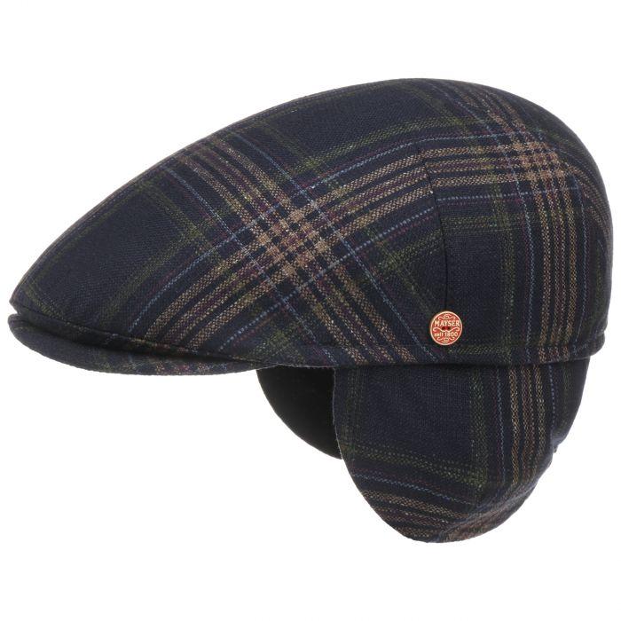 Simon Plus Flatcap mit Ohrenklappen dunkelblau