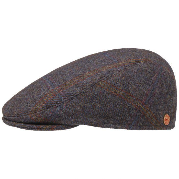 Erik Shetland Wool Flatcap blau-grün